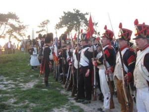 Bild 13 - Auf dem Feldherrnhügel vor Reims. Die 8ème hat sich frech neben der Alten Garde formiert.