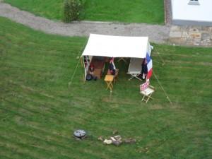 Bild 3 - Das Lager der 8ème. Aufgenommen vom Turm der Festung
