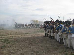 Bild 45 - Während die Baiern den Angriff der Feinde abwarten...
