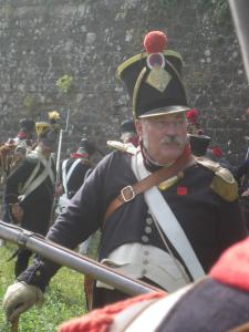 Bild 19 - Unser Kommandeur mitten im Gefecht.