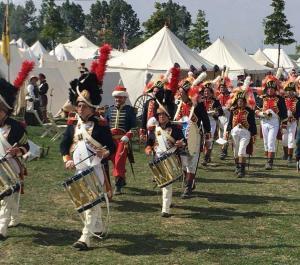 Bild 09 - Das Musikkorps der Garde spielt auf.