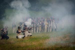 Bild 25 - Schon steht unsere Infanterie schwer im Feuer.