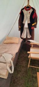Bild 01 - Das Zelt ist aufgestellt.