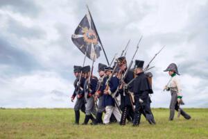 Bild 22 - Der Feind marschiert auf. Zuerst kommen die Preussen.