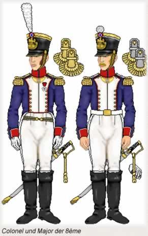 Colonel und Major der 8eme